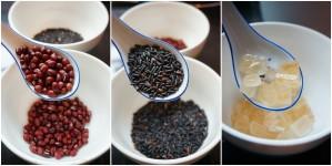 黑糯米红豆汤水